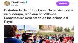 El 'corte' de una campeona de España sub-18 a Errejón por este tuit sobre fútbol