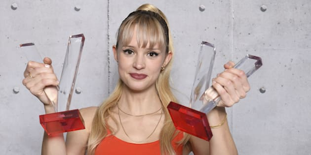 Angèle, lauréate de deux Victoires de la musique, le 8 février 2019.
