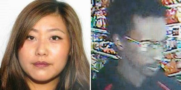 Calgary police released photos of person of interest Yu Chieh Liao, and an unidentified man she may be travelling with.