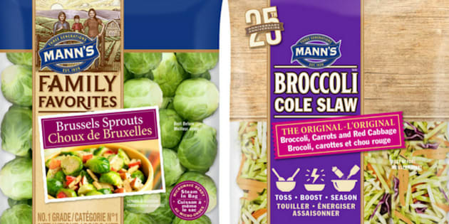 Various packaged vegetable products have been recalled in Canada.