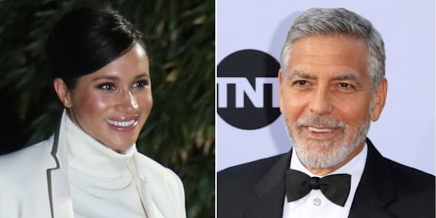 Meghan Markle y George Clooney