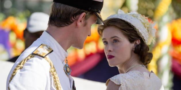 Isabel II y Felipe de Edimburgo (Matt Smith y Claire Foy) en la segunda temporada de 'The Crown'.