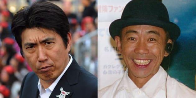 お笑いコンビ「とんねるず」の石橋貴明(左)と木梨憲武(右)