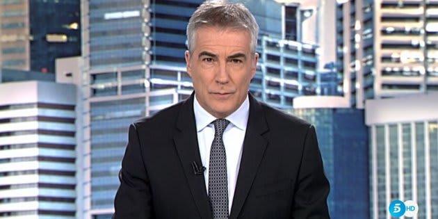 David Cantero, presentador de Informativos Telecinco.