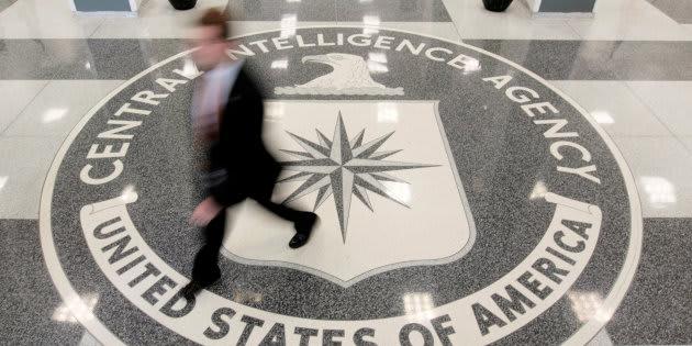 Imagen de archivo del lobby de acceso al cuartel general de la CIA en Langley, Virginia.