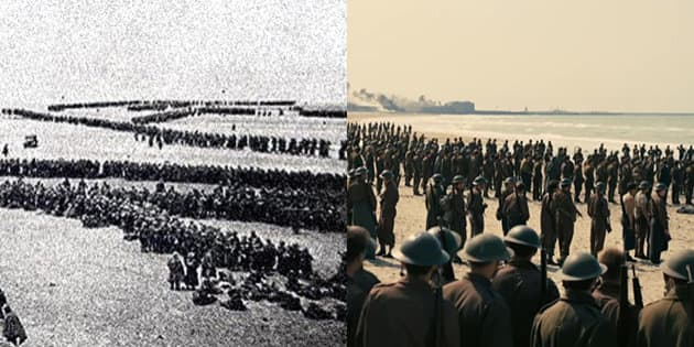 "A gauche, mai 1940 / à droite, ""Dunkerque"" de Christopher Nolan"