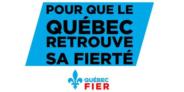 "The group's slogan, ""Pour que le Québec retrouve sa fierté,"" translates roughly to ""For Quebec to reclaim its pride."""