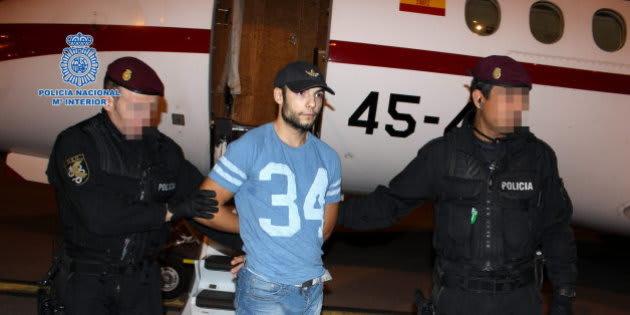Sergio Morate, a su llegada a España después de ser extraditado desde Rumanía.
