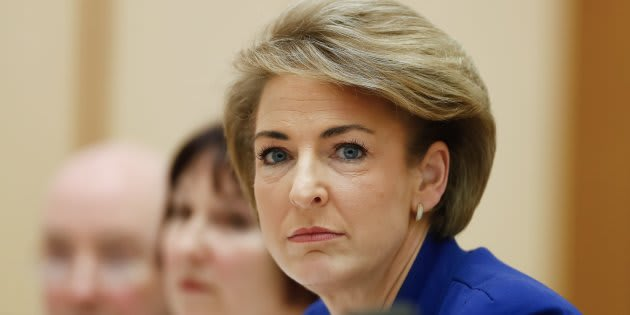 Minister for Employment Michaelia Cash during a Senate estimates hearing at Parliament House in Canberra on Wednesday 25 October 2017.