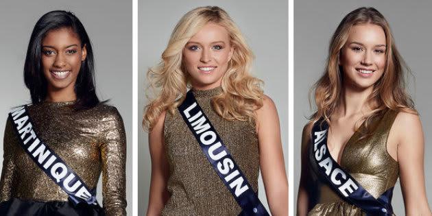 Trois candidates de l'élection Miss France 2017.