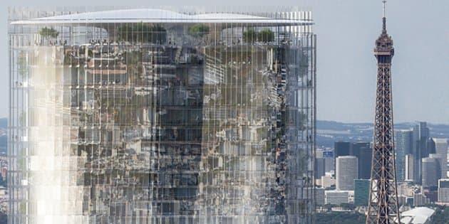 La tour Montparnasse aurait pu devenir un miroir géant