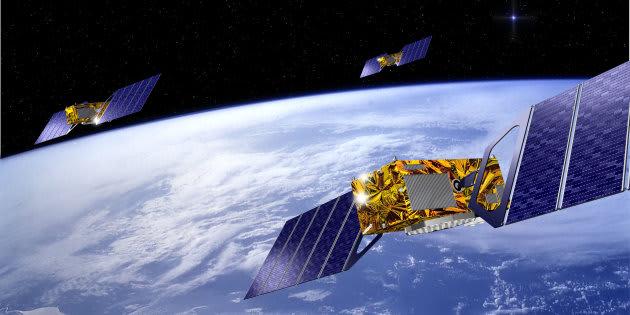 Galileo comprend plusieurs satellites qui orbitent autour de la Terre, comme pour le GPS.