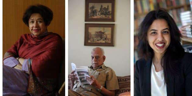 L-R: Bapsi Sidhwa, Jamil Ahmad and Saba Imtiaz.