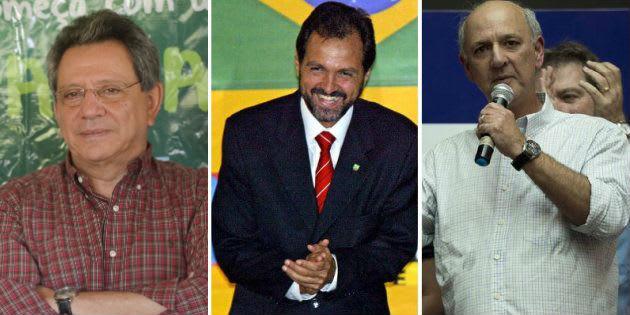 Assessor de Temer, Tadeu Filippeli, e os ex-governadores Agnelo e Arruda.