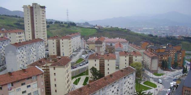 Vista del barrio de una zona del barrio de Otxarkoaga.