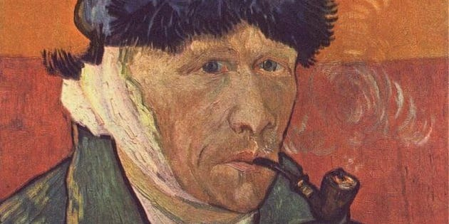 """Vincent Van Gogh, """"Self-Portrait with Bandaged Ear,"""" 1889, private collection"""