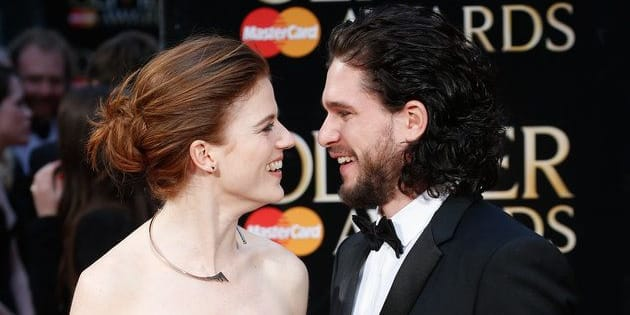 LONDON, ENGLAND - APRIL 03:  Rose Leslie and Kit Harington attend The Olivier Awards with Mastercard at The Royal Opera House on April 3, 2016 in London, England.  (Photo by Luca Teuchmann/Luca Teuchmann / WireImage)