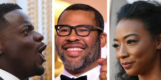 'Get Out' stars Daniel Kaluuya, Jordan Peele and Betty Gabriel shone bright at Sunday's Academy Awards.