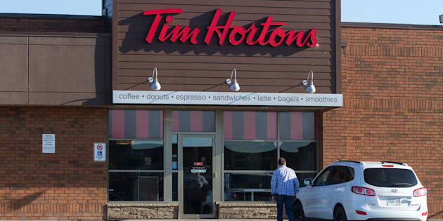 A Tim Hortons restaurant in Napanee, Ont., on April 16, 2016.