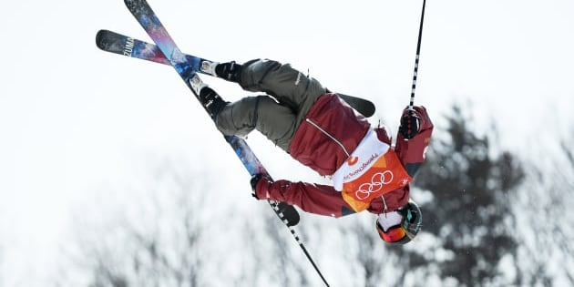 Cassie Sharpe of Canada competes in the ski halfpipe final.