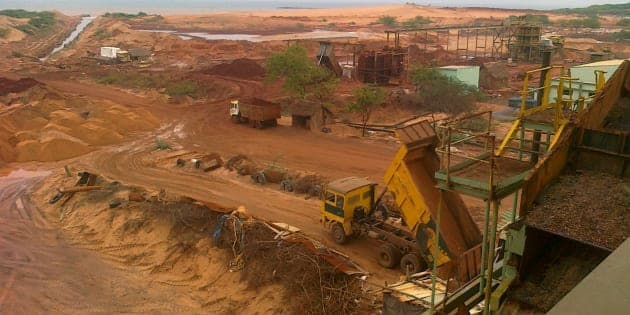 Beach sand-mining along the coast of Tamil Nadu