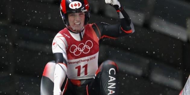 Canada's Alex Gough has won bronze in luge.