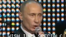 Video: Putin toma el micrófono y canta cover de
