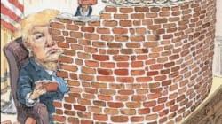 Trump construye su muro en la nueva portada de 'New