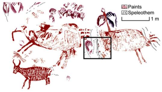 インドネシアの洞窟に4万年前の壁画、人類最古級と判明