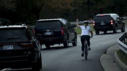 La femme qui a fait un doigt d'honneur à Donald Trump a perdu son