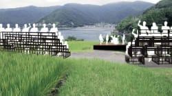 若狭湾を見渡せる棚田に「海のステージ」 5月12、13日にライブ、白崎映美さんのバンドも出演予定