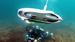 水中ドローン、海の産業革命なるか ダイバー潜らず調査