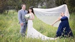 Maid Of Honour Pranks Alberta Newlyweds In Hilarious Veil Toss