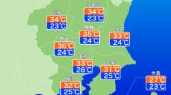 東京の予想最高気温は33℃ 6月29日は今年に入って一番の暑さに