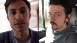 VIDEO: Los 'charolastras' Gael García y Diego Luna le piden a Peña Nieto vetar la Ley de Seguridad