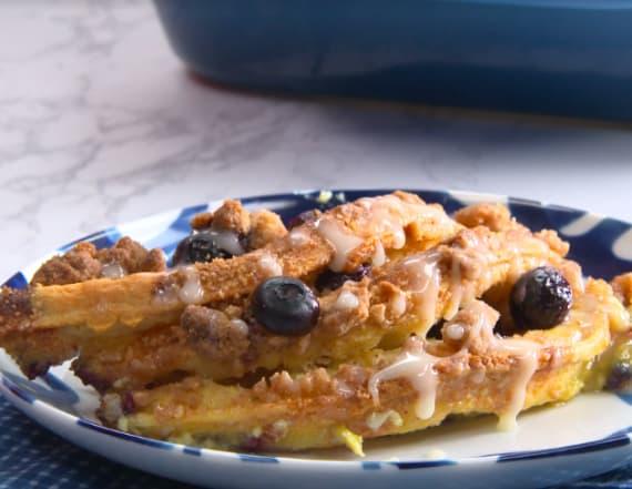 Best Bites: Overnight blueberry waffle bake