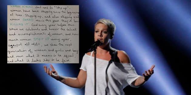 Grammy Awards 2018: La réponse parfaite de Pink au président après son conseil aux artistes féminines