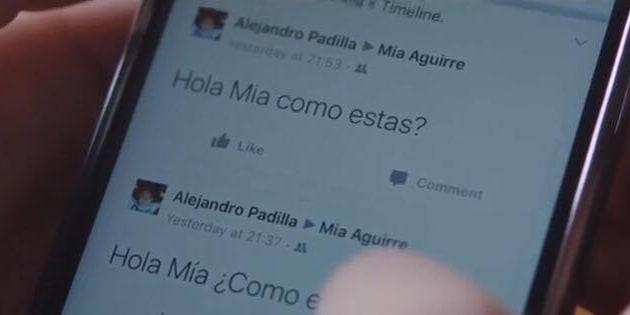 "Capture d'écran du spot ""Love Story"" (Movistar)"