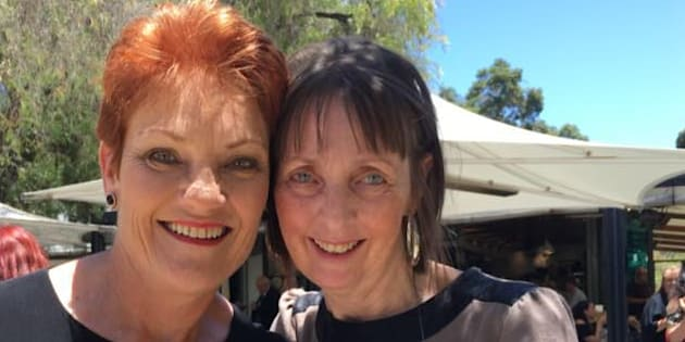 One Nation candidate Michelle Meyers (right) with party leader Pauline Hanson