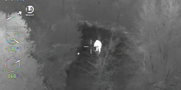 Police on Ontario released footage from a helicopter chase that took place in late January.