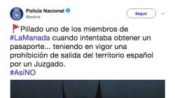 Críticas a la cuenta de Twitter de la Policía por cómo dio esta noticia sobre 'La