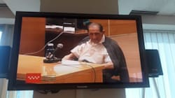 El doctor Eduardo Vela, ante el tribunal: