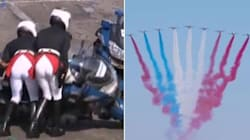 Il tricolore sbagliato, i gendarmi cadono di fronte a Macron: le gaffe nel giorno della