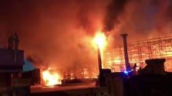 Incendio a Cinecittà: a fuoco le scenografie del