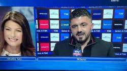 Gattuso mette in imbarazzo Ilaria D'Amico recapitando un augurio