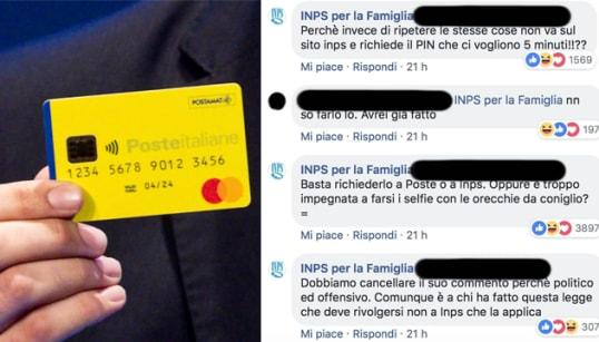 INPS SHOW SUI SOCIAL - Su Facebook rispostacce alle lamentele sul reddito di cittadinanza: