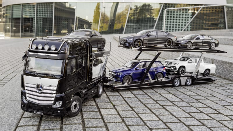 188 Best Shipping Container Trailer Images In 2019 Pinterest >> Mercedes Makes Incredibly Detailed Car Transport Model Autoblog