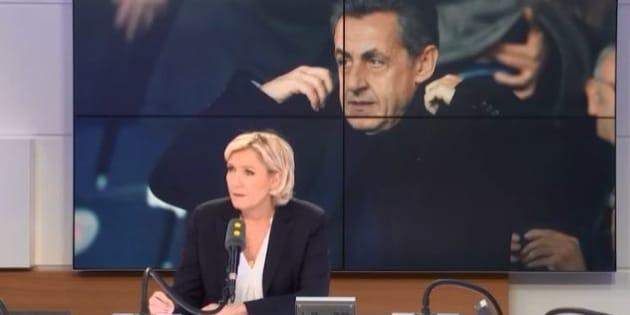 Financement lybien: Nicolas Sarkozy mieux défendu par Marine Le Pen que Laurent Wauquiez