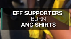 Video: EFF Supporters Burn ANC T-shirts Before Sona