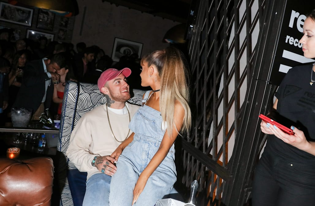 Ariana Grande Cuddles With Ex Mac Millers Former Dog Following Rappers Watch